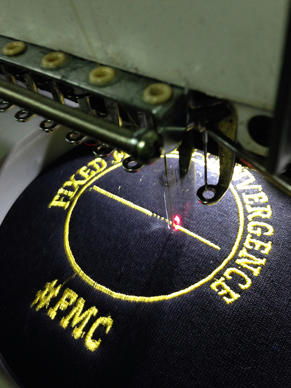 вышивка в процессе изготовления