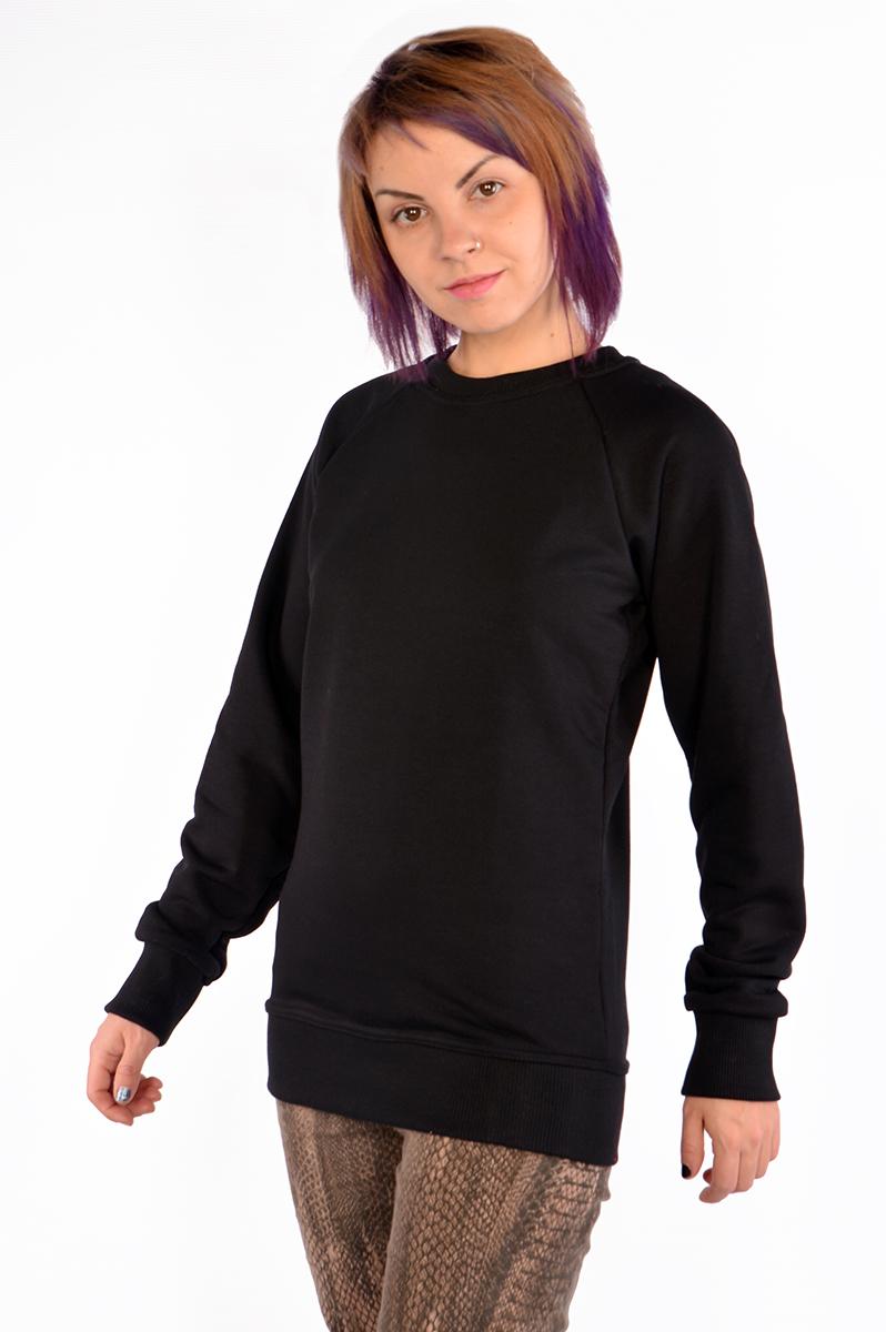 Черные свитшоты с рукавом реглан оптом