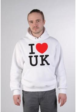 Толстовка, свитшот, футболка I Love UK