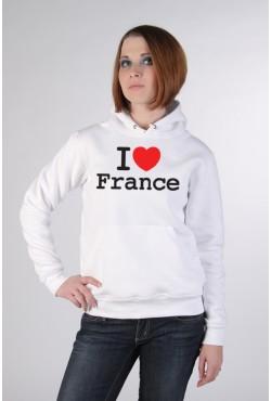 Толстовка, свитшот, футболка I Love France