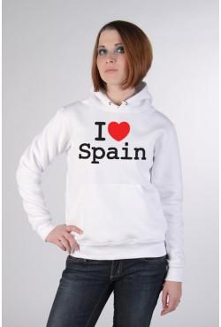 Толстовка, свитшот, футболка I Love Spain (я люблю Испанию)