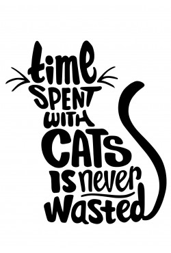 Толстовка, свитшот, футболка с котом Time spent with cats never wasted