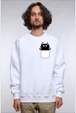 Толстовка Кот в кармане, свитшот Кот в кармане, футболка Кот в кармане