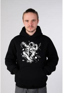 Толстовка, свитшот, футболка Астронавт - скейтер