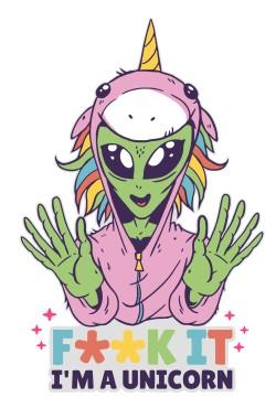 Толстовка Unicorn Alien, свитшот Unicorn Alien, футболка Unicorn Alien