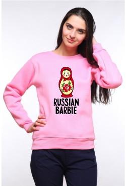 Толстовка, свитшот или футболка с принтом Russian Barbie (матрешка)