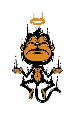 Толстовка с Обезьяной, свитшот с Обезьяной, футболка с Обезьяной
