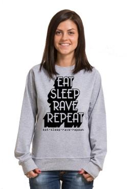 Толстовка, свитшот, футболка Eat Sleep Rave repeat