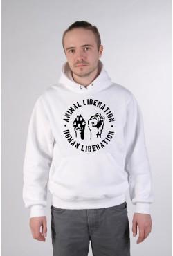 Толстовка, свитшот, футболка с надписью Animan Liberation - Human Liberation