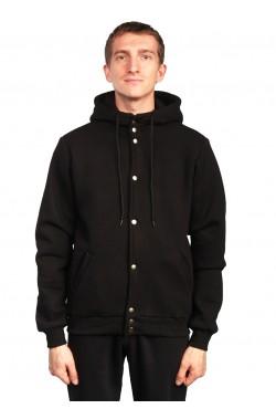 Колледж куртка мужская черная с капюшоном