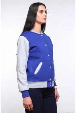 Колледж куртка женская синяя с серым