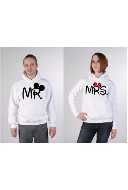 Толстовки для двоих Mr - Mrs