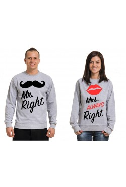 Парные свитшоты для влюбленных Mr Mrs