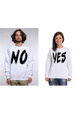 Свитшоты для двоих Yes - No