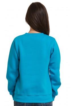 Женский бирюзовый свитшот 320гр/м2
