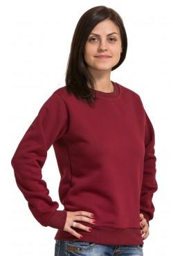 Женский бордовый свитшот 320гр/м2