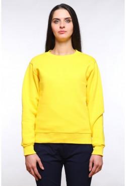Женский желтый свитшот 320гр/м2