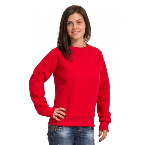 Женский красный свитшот 320гр/м2 с начесом