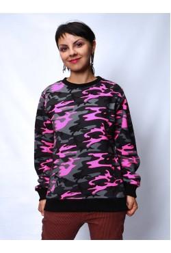 Свитшот милитари женский розовый РАСПРОДАЖА