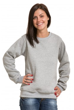 Женский серый (меланж) свитшот 320гр/м
