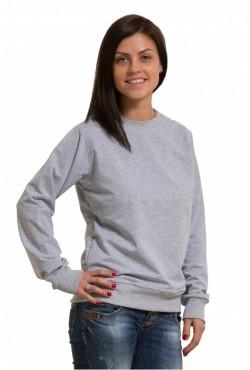 Женский серый (меланж) свитшот летний 240гр/м2