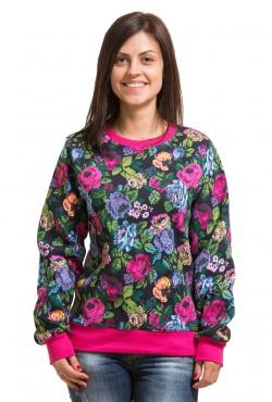 Женский свитшот с цветочным принтом 320гр/м