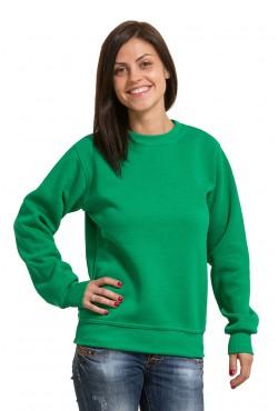 Женский зеленый свитшот 320гр/м2
