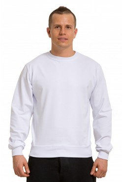 Мужской белый свитшот летний 250гр/м2