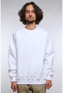 Мужской белый свитшот 320гр/м2