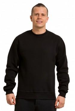 Мужской черный свитшот 320гр/м2