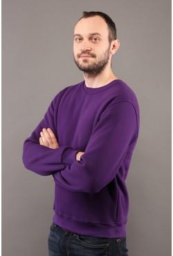 Мужской фиолетовый свитшот 320гр/м2