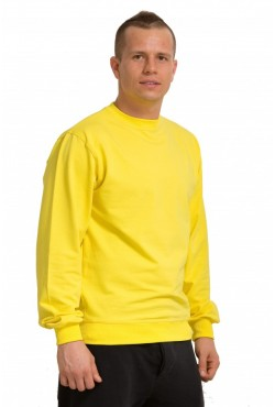 Мужской желтый свитшот летний 250гр/м2