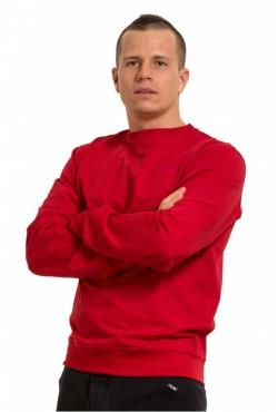 Мужской красный свитшот летний 250гр/м2