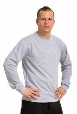 Мужской серый (меланж) свитшот летний 250гр/м2