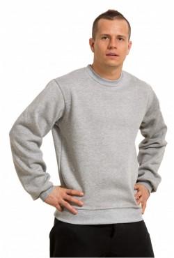 Мужской свитшот светло-серый (меланж) 320гр/м2