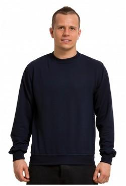 Мужской темно-синий свитшот летний 250гр/м2