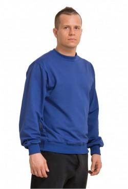 Мужской ярко-синиий свитшот летний 250гр/м2