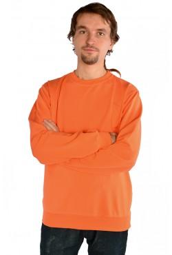 Мужской оранжевый свитшот летний 250гр/м2