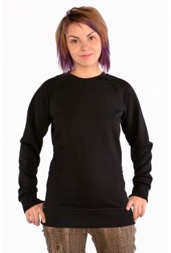 Женский свитшот-реглан черный 300гр/м2