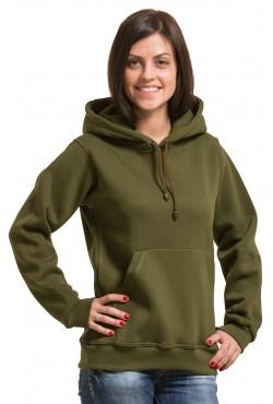Khaki Color Hoodie Woman Classic Женская толстовка хаки худи классическая 320гр/м.кв