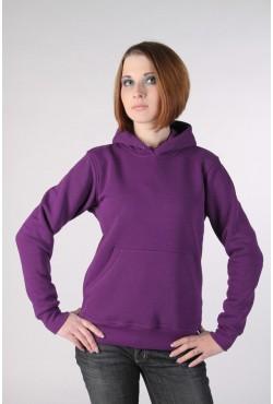 Violet Color Hoodie Woman Classic Женская фиолетовая толстовка худи классическая 320гр/м.кв