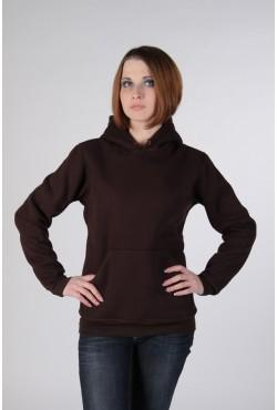 Brown Color Hoodie Woman Classic Женская коричневая толстовка худи классическая 320гр/м.кв
