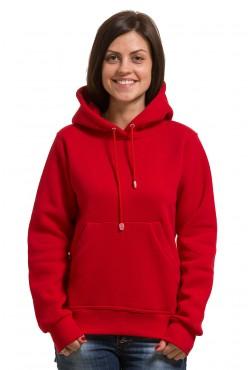 Red Color Hoodie Woman Classic  Женская красная толстовка худи классическая 320гр/м.кв