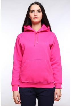 Crimson Color Hoodie Woman Classic Женская малиновая (ярко-розовая, фуксия) толстовка худи классическая 320гр/м.кв