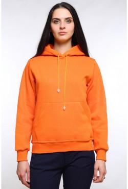 Orange  Color Hoodie Woman Classic Женская оранжевая толстовка худи классическая 320гр/м.кв