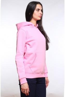 Pink Color Hoodie Woman Classic Женская розовая толстовка худи классическая 320гр/м.кв
