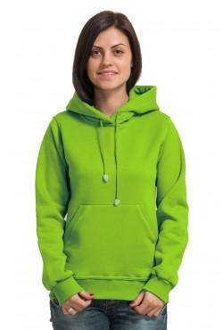 Light Green Color Hoodie Woman Classic Женская салатовая толстовка худи классическая 320гр/м.кв (светло-зеленый)