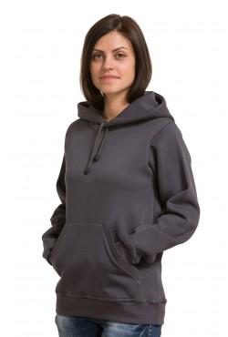 Oxford gray Color Hoodie Woman Classic Женская стальная толстовка худи классическая 320гр/м.кв