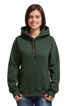 Dark Green Color Hoodie Woman Classic Женская темно-зеленая толстовка худи классическая 320гр/м.кв