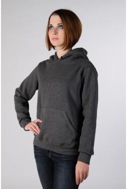 Dark Grey Color Hoodie Woman Classic Женская темно-серая толстовка (цвет антрацит)